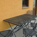 Ferienwohnung Waschbär: Terrasse