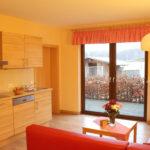 Ferienwohnung Laubfrosch: Wohnzimmer mit Küche